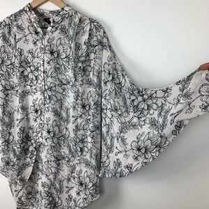 Topshop Tops - Topshop • Floral Print Hi Lo button down blouse 2